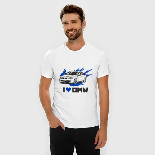 Мужская футболка премиум  Фото 03, Я люблю БМВ