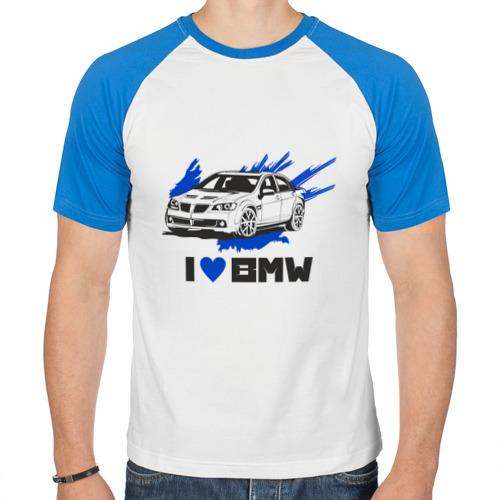 Мужская футболка реглан  Фото 01, Я люблю БМВ