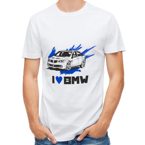 Мужская футболка полусинтетическая  Фото 01, Я люблю БМВ