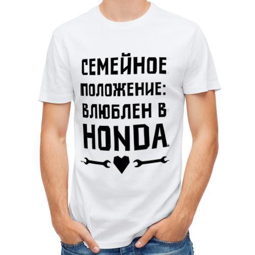 Мужская футболка полусинтетическая  Фото 01, Влюблен в Хонда