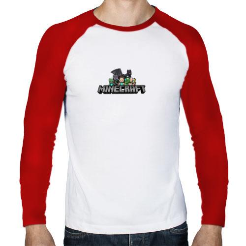 Мужской лонгслив реглан  Фото 01, Minecraft лого