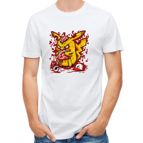 Мужская футболка полусинтетическая  Фото 01, Пикачу зомби