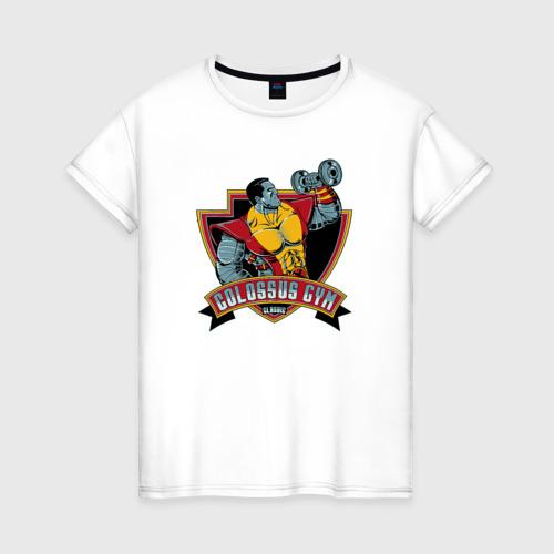 Женская футболка хлопок Colossus Gym