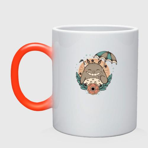 Кружка хамелеон Smile Totoro