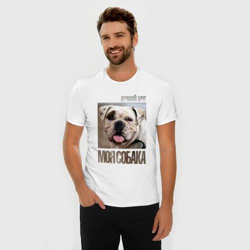 Мужская футболка премиум  Фото 03, Американский бульдог