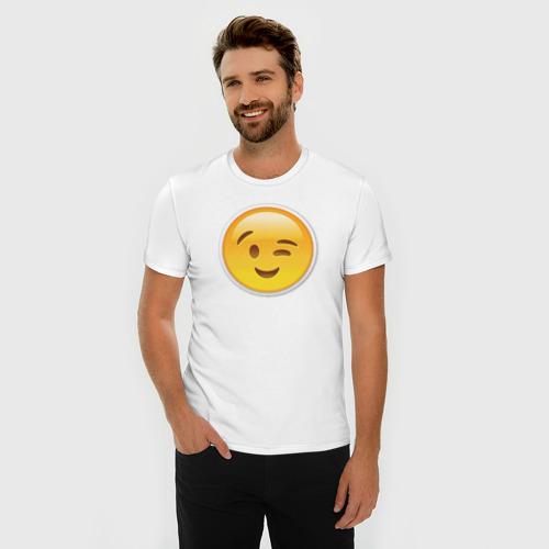 Мужская футболка премиум  Фото 03, Подмигивающий смайл