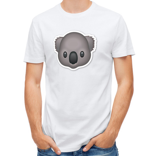 Мужская футболка полусинтетическая  Фото 01, Смайл коала