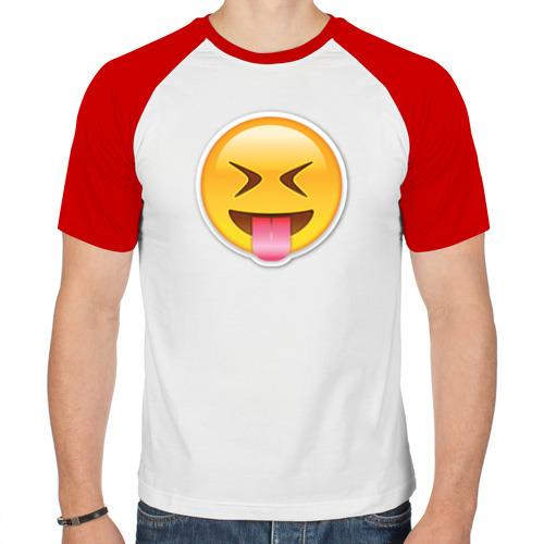 Мужская футболка реглан  Фото 01, Смайл сумасшедший