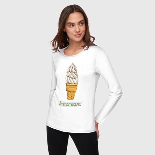 Женский лонгслив хлопок  Фото 03, ice cream 3
