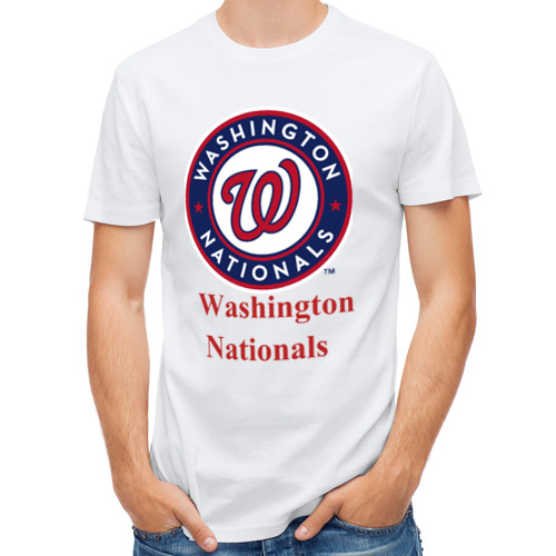 Мужская футболка полусинтетическая  Фото 01, Washington Nationals