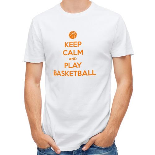 Мужская футболка полусинтетическая  Фото 01, basketball