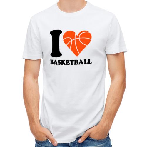 Мужская футболка полусинтетическая  Фото 01, i love basketball