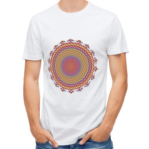 Мужская футболка полусинтетическая  Фото 01, Оптическая иллюзия