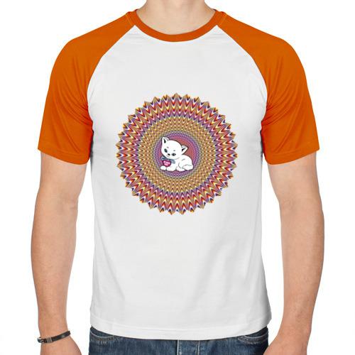 Мужская футболка реглан  Фото 01, Иллюзия и кот