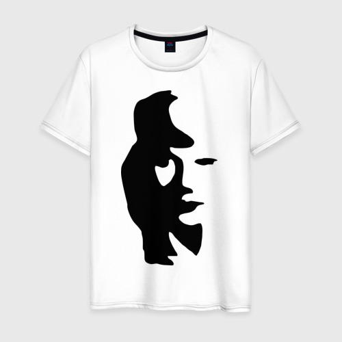Мужская футболка хлопок саксофонист или девушка