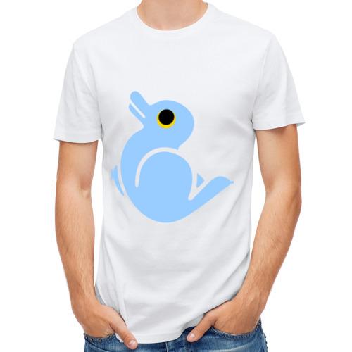 Мужская футболка полусинтетическая  Фото 01, Утка или заяц