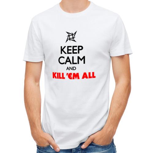 Мужская футболка полусинтетическая  Фото 01, Keep Calm And Kill'Em All