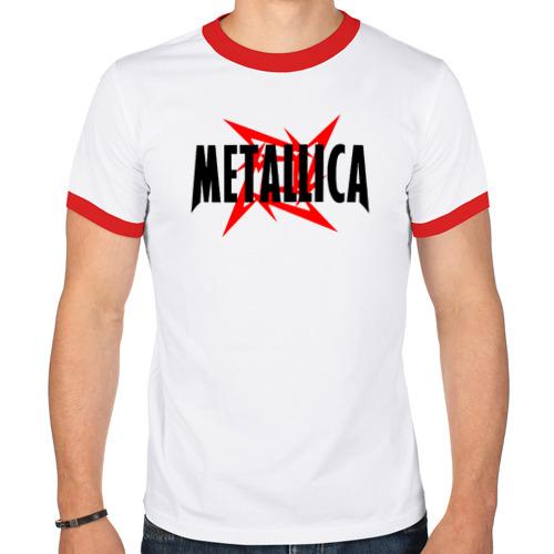 Мужская футболка рингер  Фото 01, Metallica logo