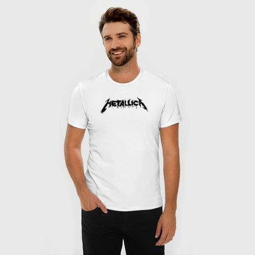 Мужская футболка премиум  Фото 03, Metallica painted logo