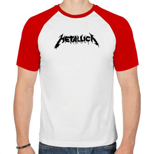 Мужская футболка реглан  Фото 01, Metallica painted logo