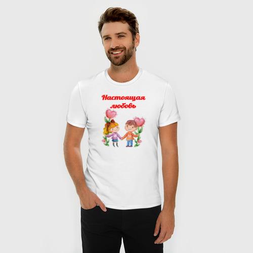 Мужская футболка премиум  Фото 03, Настоящая любовь