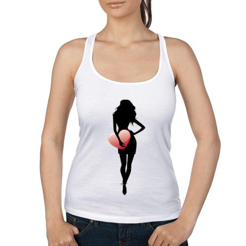 Женская майка борцовка  Фото 01, Девушка с сердцем