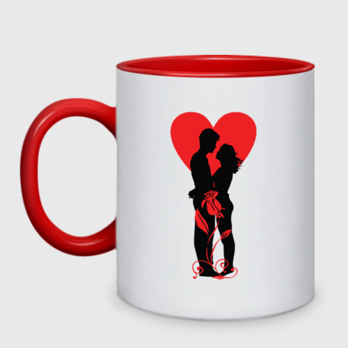 Кружка двухцветная Влюбленная пара
