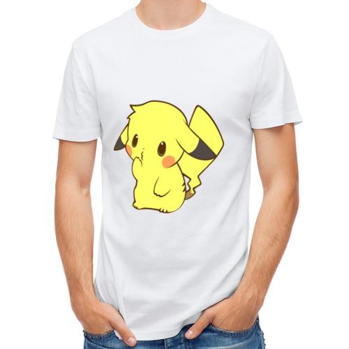 Мужская футболка полусинтетическая  Фото 01, Пикачу