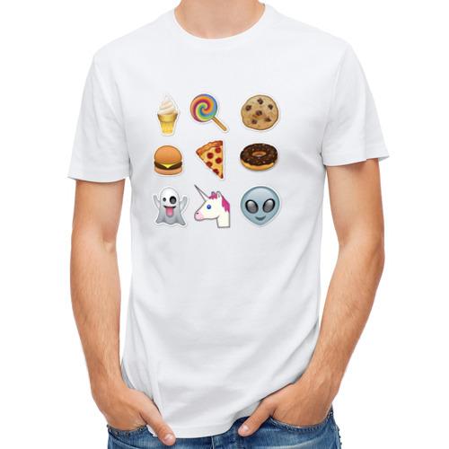 Мужская футболка полусинтетическая  Фото 01, Свэг смайлы