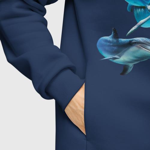 Мужское худи Oversize хлопок Дельфины Фото 01