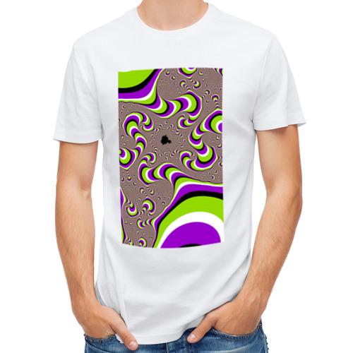 Мужская футболка полусинтетическая  Фото 01, Психоделическая иллюзия