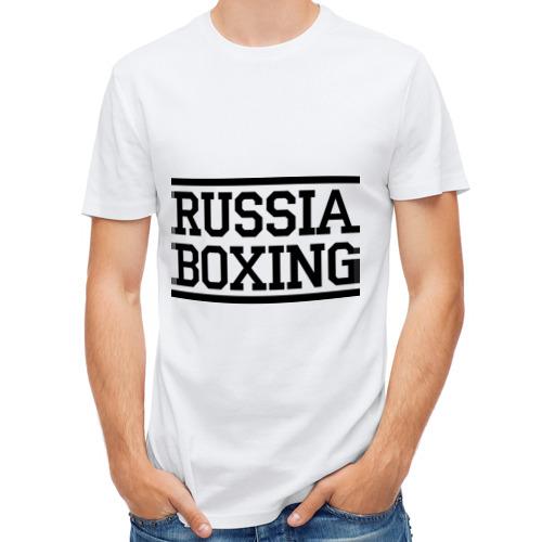 Мужская футболка полусинтетическая  Фото 01, Russia boxing