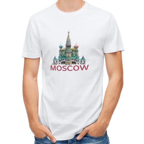 Мужская футболка полусинтетическая  Фото 01, MOSCOW