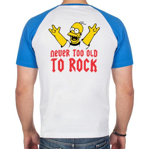 Мужская футболка реглан  Фото 02, Never too old to rock