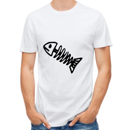 Мужская футболка полусинтетическая  Фото 01, Fish