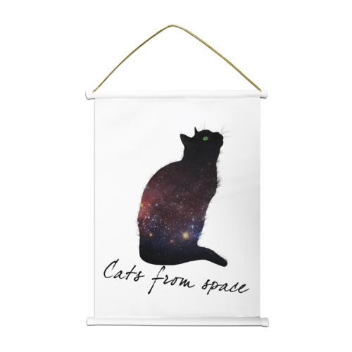 Тканевый плакат Cats from space