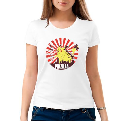 Женская футболка хлопок  Фото 03, Pikzilla