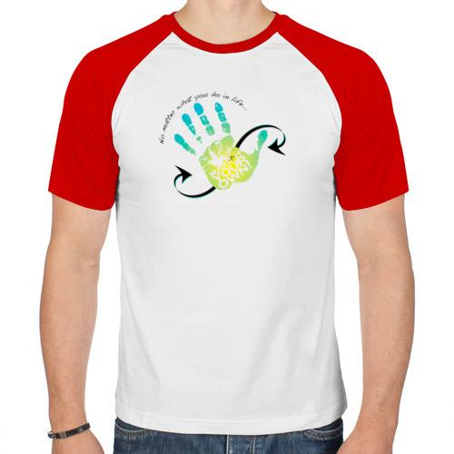 Мужская футболка реглан  Фото 01, След руки