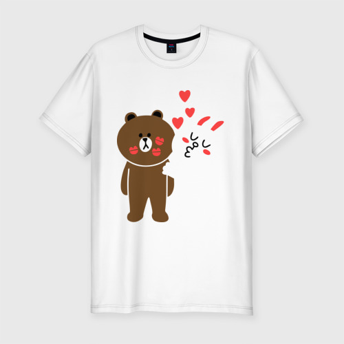 Мужская футболка премиум Стикер Line Фото 01