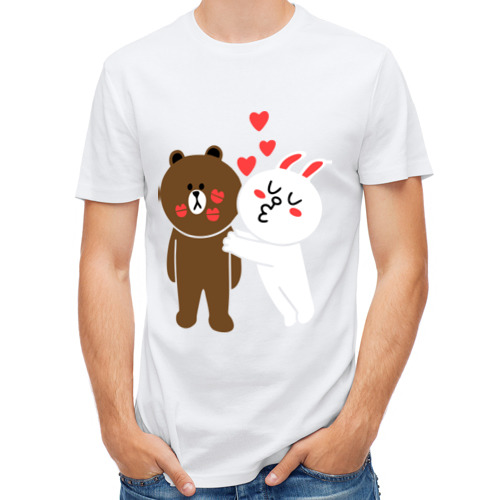 Мужская футболка полусинтетическая  Фото 01, Стикер Line