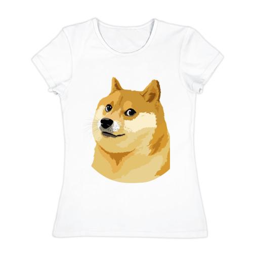 Женская футболка хлопок Doge