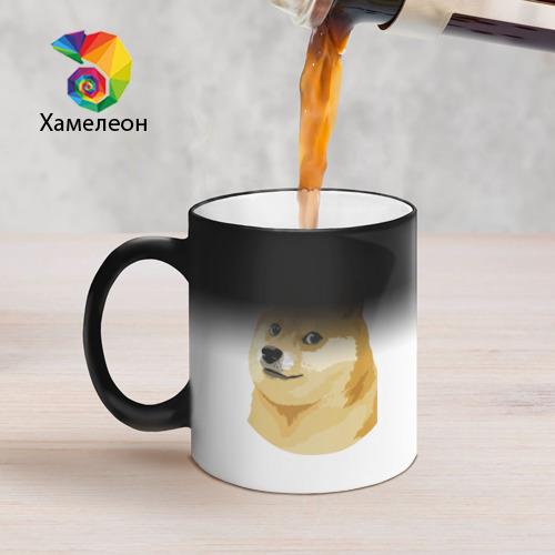 Кружка хамелеон Doge Фото 01