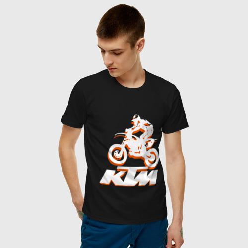 Мужская футболка хлопок KTM белый Фото 01