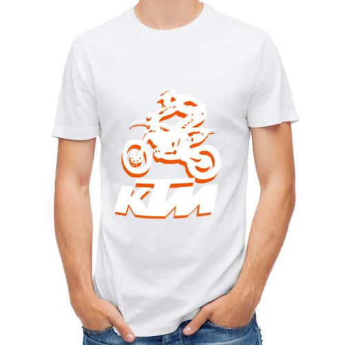 Мужская футболка полусинтетическая  Фото 01, KTM белый