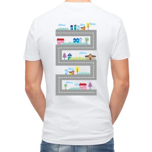 Мужская футболка полусинтетическая  Фото 02, Дорога на спине