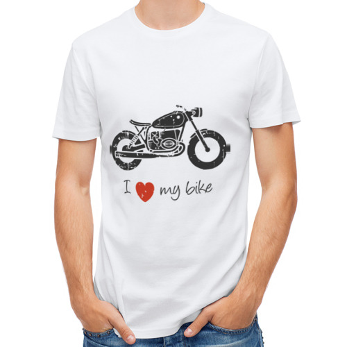 Мужская футболка полусинтетическая  Фото 01, Люблю свой байк