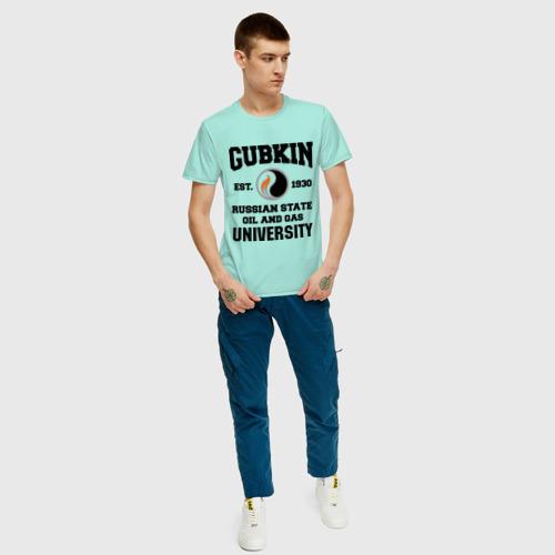 Мужская футболка хлопок Унивеситет им.Губкина Фото 01