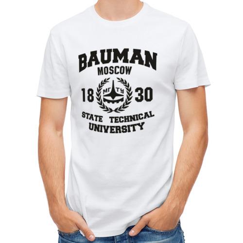 Мужская футболка полусинтетическая  Фото 01, Университет Баумана