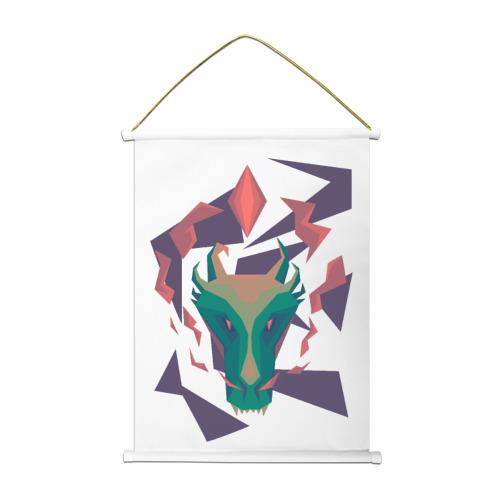 Тканевый плакат Голова дракона