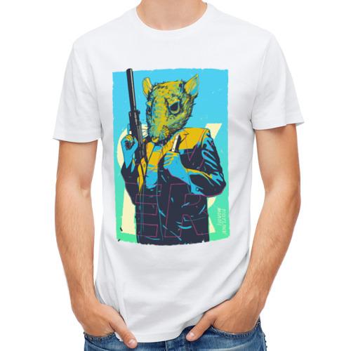 Мужская футболка полусинтетическая  Фото 01, Hotline miami